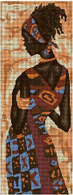 African Lady x-stitch Simple Cross Stitch, Cross Stitch Charts, Cross Stitch Patterns, Butterfly Cross Stitch, Cross Stitch Flowers, Needlepoint Designs, Needlepoint Canvases, Cross Stitching, Cross Stitch Embroidery