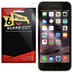 "Klear Cut [6 Pack] – Screen Protector for Apple iPhone 6 Plus 5.5"" – Lifetime Replacement Warranty - Anti-Bubble  #ScreenProtectors"