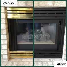 This inspired me to paint my 90s fireplace. It was a easy DIY project. Turned out awesome. - Modern Fireplace