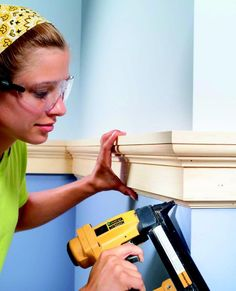 Chair rail molding can transform a room. Get answers to your questions such as: How high is a chair rail? and How to install chair rail here. Home Improvement Projects, Home Projects, Home Renovation, Home Remodeling, Trim Carpentry, Do It Yourself Inspiration, Moldings And Trim, Moulding, Crown Moldings