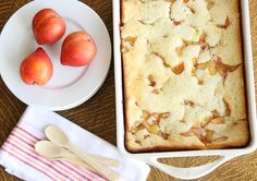 Fresh, seasonal stone fruit, done up in true Lone Star state fashion in a luscious, buttery Texas-Style Fruit Cobbler.