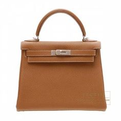 36113be64a Hermes Kelly bag 28 Retourne Gold Togo leather Silver hardware Hermes Kelly  Bag