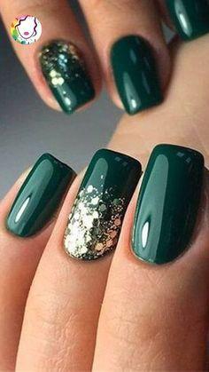 Popular Nail Designs, Winter Nail Designs, Popular Nail Colors, Gel Nail Art Designs, Stylish Nails, Trendy Nails, Cute Acrylic Nails, Cute Nails, Winter Acrylic Nails