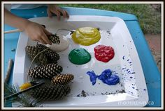 pinecone painting 1 by momstown, via Flickr