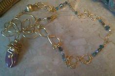 Handmade grecian inspired real gem necklsce £26