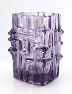 1960s Sklo Union Czechoslovakia Glass Vase