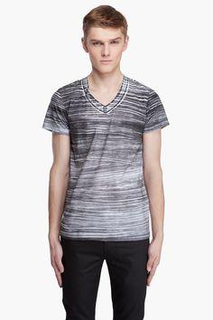 KRIS VAN ASSCHE, BLURRED STRIPE SHIRT: such a sha-shirt. $190