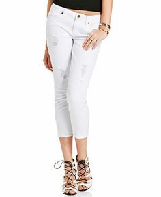 Levi's® Juniors' 524 Destroyed White-Wash Skinny Jeans - Juniors ...