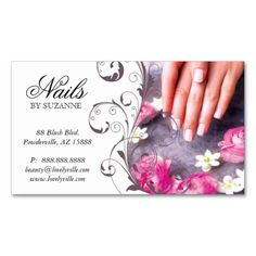 Nail Salon Business Card Pink Taupe Nails Cards Beauty