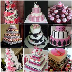 Love these cakes with a touch of pink