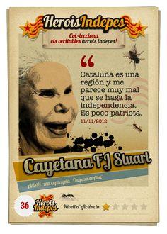 """#HeroisIndepes 36. Cayetana Fitz-James Stuart: """"Cataluña es una región y me parece muy mal que se haga la independencia. Es poco patriota."""""""