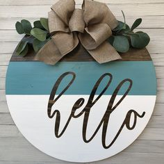 Wooden Door Signs, Diy Wood Signs, Wooden Door Hangers, Country Wood Signs, Letter Door Hangers, Welcome Signs Front Door, Front Door Decor, Wreaths For Front Door, Welcome Wood Sign
