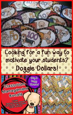 $ Looking for Dog/Puppy Themed Classroom Money, Reward Coupons, Brag Tags, and More for your Classroom Management System. This set works well with PBIS, Class Dojo, and others. Includes a blank template so you can add rewards to match your needs. #59