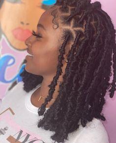 Black woman   black girl Faux Locs Hairstyles, Braids Hairstyles Pictures, Black Girl Braided Hairstyles, Twist Braid Hairstyles, African Braids Hairstyles, Baddie Hairstyles, Twist Braids, Prom Hairstyles, Halloween Hairstyles