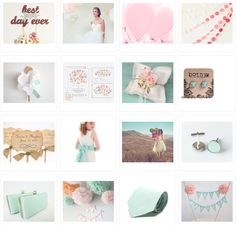 Mint and Pink Wedding Theme http://niapersonbridal.wordpress.com