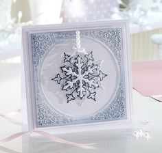 Signature Collection by Sara Davies - Festive Wonder 6 X 6 Embossing Folder - Festive Frame-This embossing folder called Festive Frame is perfect for all of your papercrafting, cardmaking and scrapbooking project. This embossing folder can be use Fall Cards, Xmas Cards, Holiday Cards, Snowflake Cards, Christmas Snowflakes, Handmade Christmas, Christmas Crafts, Christmas Ideas, Christmas Signs