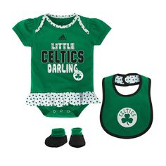 Boston Celtics Love Watching With Daddy Baby Short Sleeve Bodysuit