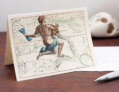 Printable Zodiac Sign Aquarius Constellation by DejaVuPrintStore