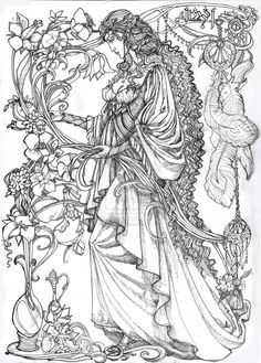 Flower of Aman. Lineart by Righon Deviantart