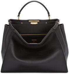 3300 euros  Fendi - Black Large Peekaboo Bag