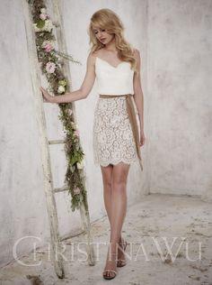 2016 A-line Short Bridesmaid Dress Christina Wu Style 22695