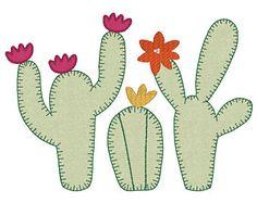 Resultado de imagen para cactus bordado