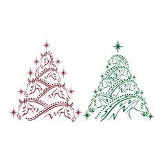 Horse Christmas tree | Christmas | Pinterest | Christmas tree ...