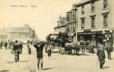 Station Square, Largs, North Ayrshire around - 1900