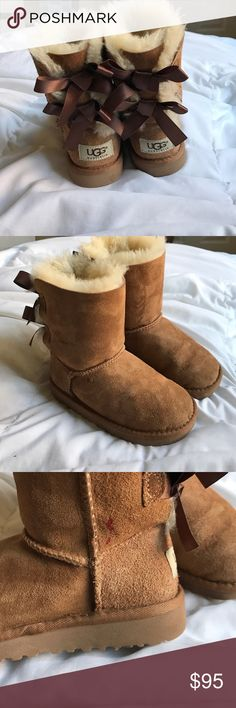 Toddler Girls Ugg Bailey Bow Boots Great condition, small red marker spot on the right shoe. So cute  UGG Shoes Boots