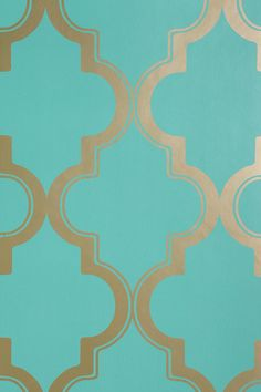 $98 Urban Outfitters. Marrakesh Honey Wallpaper- line the back wall of the cabinets or a bookshelf