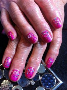glitter blendz first date. gel Polish nails