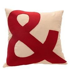 A46 Organization Home Collection Kırmızı Big& Kadife Yastık - netlence.com