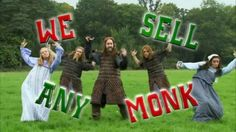 "Horrible Histories    Vikings:   ""We Sell Any Monk"" Song ,   Scribe monk..."