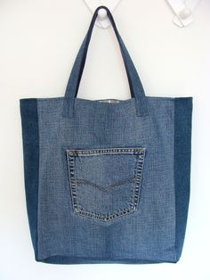 Big Denim Bag #1, #woman, #bag, #tote, #shopper, #denim, #handmade, #recycling, #nudakillers, #denimlove, #summerbags, #denimbags