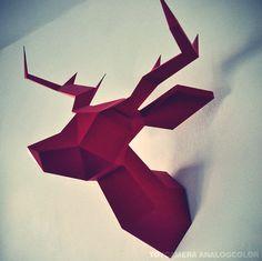 JE VEUX JE VEUX //////////////////    $60,00 Oh my deer ! Origami/Maquette de Tête de Cerf (Plusieurs coloris disponibles)