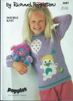 PDF File  Puffball Popple Intarsia Knitting by RetroNeedles, $1.50