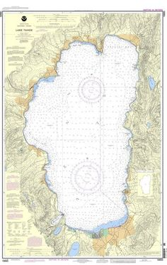 NOAA Nautical Chart 18665: Lake Tahoe