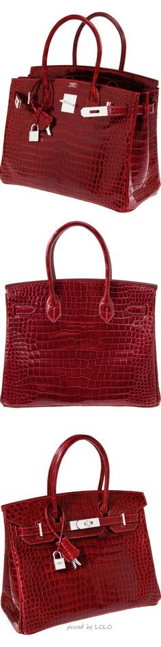 Hermes Crocodile Birkin with White Gold & Diamond Hardware