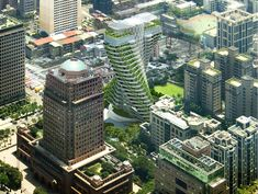 Image 44 of 50 from gallery of Vincent Callebaut Architectures' Double Helix Eco-Tower Takes Shape in Taiwan. Photograph by Vincent Callebaut Architectures Green Architecture, Concept Architecture, Futuristic Architecture, Building Architecture, Architecture Visualization, Building Facade, Building Plans, Amazing Architecture, Garden Images