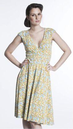 Blutsgeschwister Oh la la tralala dress i gult och turkost Couture, Spring Summer, Contemporary, Summer Dresses, Fashion, Dress, Gowns, Summer Sundresses, Moda
