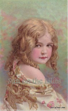 Digital Download ~ Beautiful Young Girl Trade Card on Etsy, $2.50