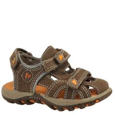 Merrell Kid'S Waterpro Scout Junior Sandal - Total Eclipse Merrell. $23.99. Hook and loop closure system for easy adjustability. Synthetic upper. Built To Get Wet Construction with water-friendly, quick-dry materials. This is the perfect sandal for your water-loving little one. synthetic. No-rub Lycra® neoprene lining treated with Aegis® antimicrobial solution. rubber sole
