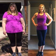 Before and After Weight Loss Rachelle Hosick