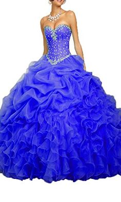c300fc4ec62 OnlyBridal Women s Beaded Organza Ball Gown Sweet 16 Dresses Quinceanera  Dresses at Amazon Women s Clothing store