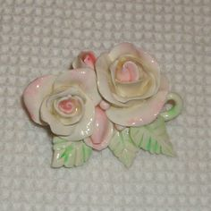 Shabby Chic Romantic cottage rose pin