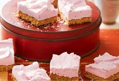Kids will love this marshmallow slice. With a coconut and Weetbix buttery base, and a pink fluffy topping, adults may also find a weak spot for these treats...