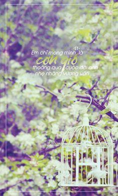 Em chỉ mong mình là cơn gió thoáng qua cuộc đời anh,nhẹ nhàng vương vấn  .. ● Nguồn: ST ● Design: #Nana