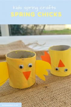 Super cute little spring chick craft for kids to make - perfect for little Spring Arts And Crafts, Diy Arts And Crafts, Fun Crafts, Crafts For Kids To Make, Projects For Kids, Art For Kids, Craft Kids, Kid Art, School Projects