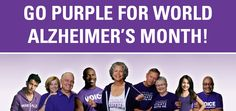 Go purple for World Alzheimer's Month
