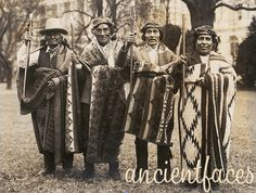 Pueblo Native Americans Protest family photo